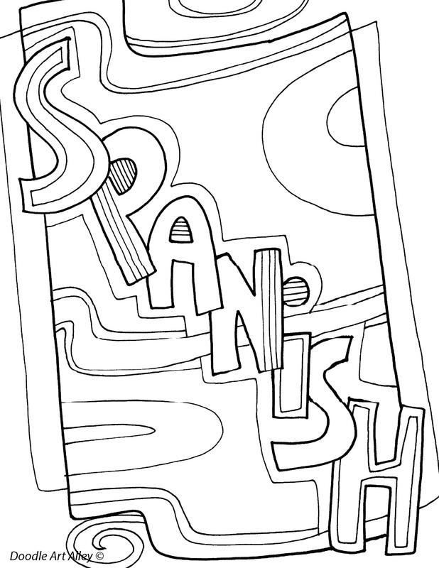 subject cover pages coloring pages